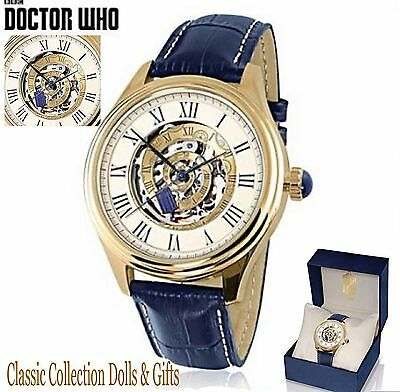 """Bradford Exchange-""""doctor Who""""-Official Time Vortex Tardis Mechanical Watch-New"""