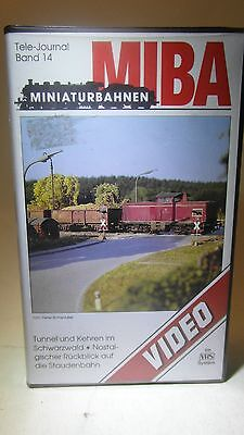 +43 Video VHS MIBA Tele Journal 14 Modellbahn