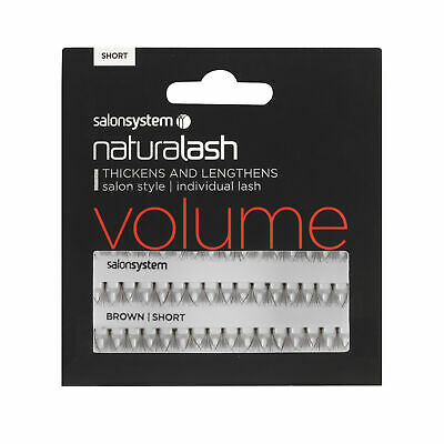 Salon System Individual Lash False Eyelashes Volume Short - Brown (0225102)