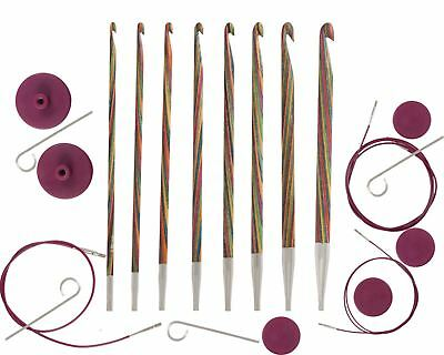 KnitPro Symfonie Wood Interchangeable Tunisian Crochet Hook Set