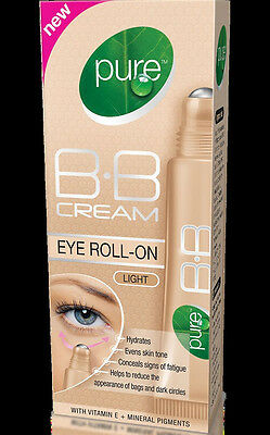 Pure B.B Cream Eye Roll-On Light With Vitamin E + Mineral Pigments 10 ml