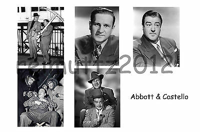 Abbott & Costello - Set of 5 A4 sized glossy photo prints