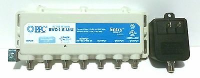 PPC Active Return EVO1-5-U/U 5-Port Cable Signal Amplifier Booster & Splitter TV