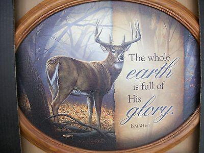 Wild Wings Framed Oval Canvas In His Prime Whitetail Deer