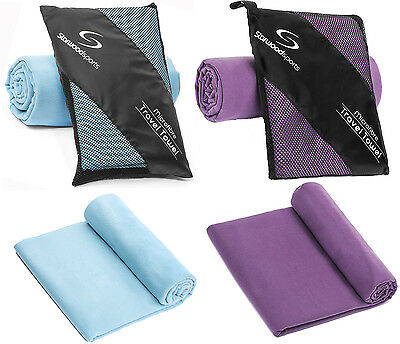 Quick Dry Microfibre Towel for Travel Sports Beach Gym Yoga Lightweight&Compact