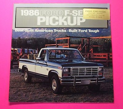 1986 Ford F-Series Truck Models Showroom Sales Brochure..22 Pages
