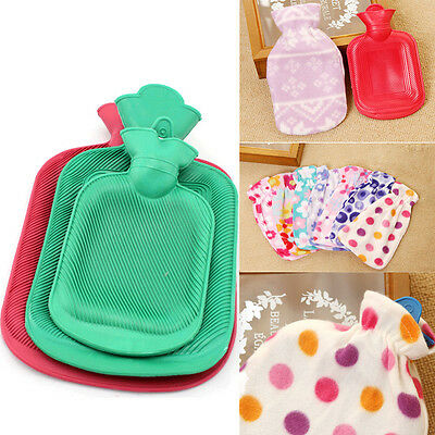 Hot Water Bottle Large Rubber Warmer Flannel Cover Quality Bottles Cold Therapy