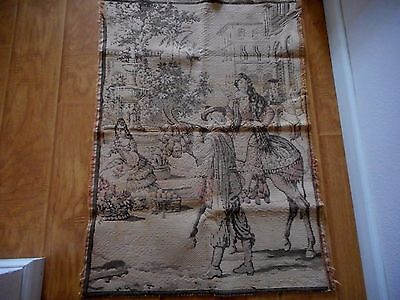 Vintage Woven Tapestry Vintage Mexican Scene OLD 38 1/2 x 28