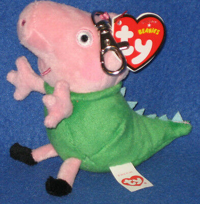 Ty Beanie Baby ~ MR DINOSAUR the UK Peppa Pig Theme Park Exclusive ~ MINT ~NEW