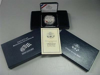 2004 Lewis and Clark Proof Silver Dollar Commemorative Coin US Mint
