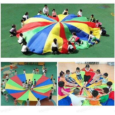 Kids Play Rainbow Parachute Children Outdoor Game Team Exercise Fun Sport Toy