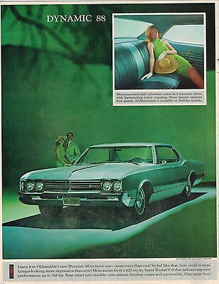 1966 Oldsmobile DYNAMIC 88 Photo (from brochure) excerpt (Ad)
