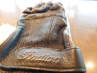 Genuine Indian Motorcycle Black Mens Classic Glove 100% Leather