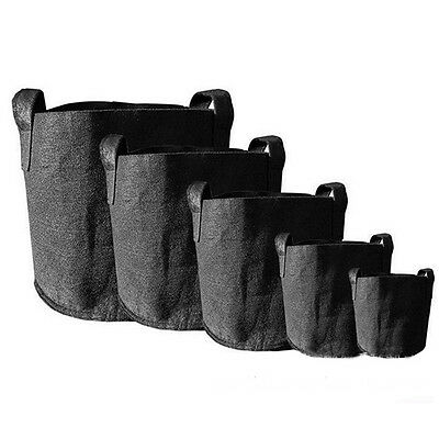Round Fabric Grow Pots Plant Pouch Root Container Bag Aeration Container 7 SIZE