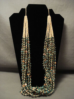 178 Gram Natural Green Turquoise Heishi Navajo Necklace