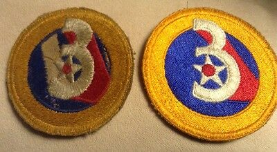 World War II U.S. 3rd Army Air Forces Patch, Set of 2
