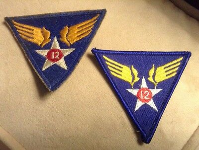 U.S. World War II 12th Army Air Forces Patches, Set Of 2