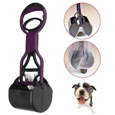 Pet Dog Cat Handle Pooper Scooper Jaw Poop Waste Pickup Scoop Home Yard Clean QW