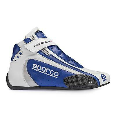 Sparco Formula Plus SL-8 FIA Approved Race/Rally Boots Blue/White - UK 11/EUR 46
