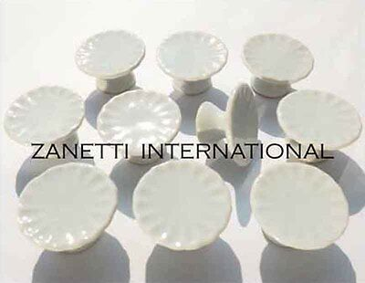 Set of 10 Dollhouse Miniature Ceramic Cake Stands / Plates *Dishes Display Stand