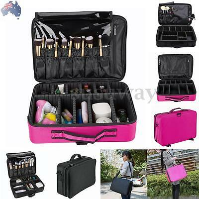 Professional Makeup Bag Cosmetic Case Storage Box Travel Carry Beauty Organiser
