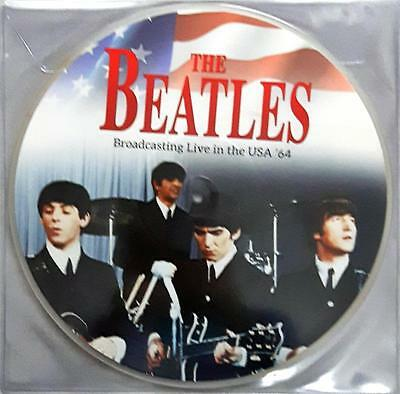 """BEATLES - Broadcasting Live In The USA '64 Lp 12"""" 33 Giri New Sealed"""