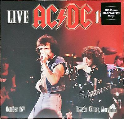 """AC/DC  Live At Towson Center Md October 16Th 1979 Lp 12"""" 33 Giri New Sealed"""