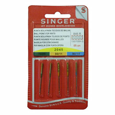 Universal Sewing Machine Needles Ball Point Size 80,90,100 Assorted -5 Pk