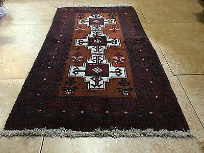 OLD ANTIQUE AUTHENTIC WOOL HANDMADE HAND KNOTTED  PERSIAN RUG carpet runner