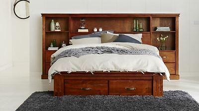New Cabin Solid Timber King Bedroom Suite / Set  With 2 Storage  Drawers