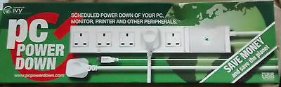 IVY   PC POWER DOWN  energy saver USB controlled     5 x 13 amp sockets