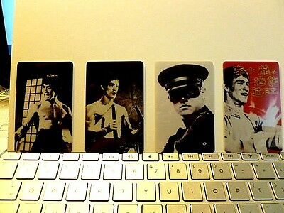 "Bruce Lee "" Phone Card Set "" 4 Cards Never Used"