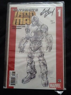 ultimate iron man #1 variant edition signed by andy kubert marvel