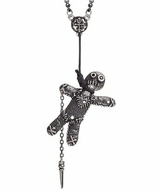 Voodoo Doll Noose Pendant Witch Grimoire Stick Pin Wicca Alchemy Gothic P769