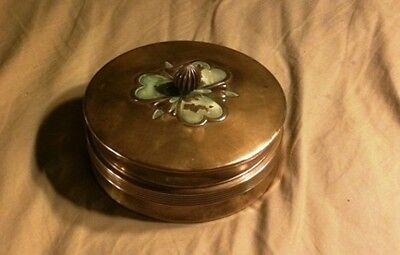 Chase Chrome and Glass Co.  art deco powder / candy container