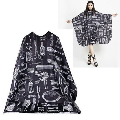 Hair Cutting Cape Pro Salon Hairdressing Hairdresser Gown Barber Cloth Black