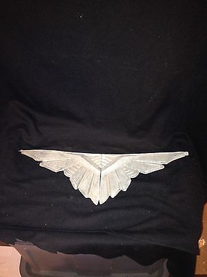 "1920's 20 1/2"" 2pc Art Deco Metal Exterior Pediment"