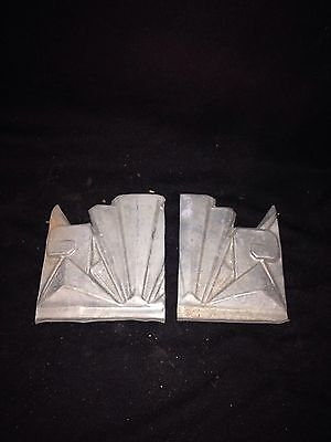 1920's 2pc Metal Exterior Pediment