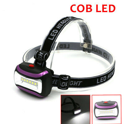 3W COB LED Headlight Headlamp AAA Battery Bright Torch Zoomable Lantern Camping