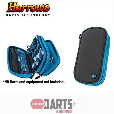 Harrows Z800 Black & Blue Darts and Accessory Case / Wallet - Holds 2 Sets