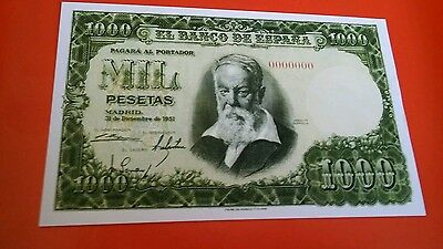 World banknote  Spain 1000 peseta 1951 Quality Scarce REPRODUCTION