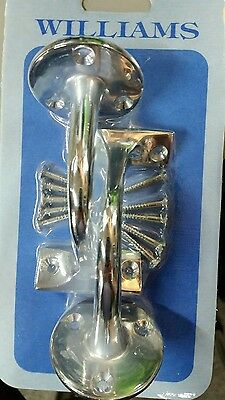 Hand rail bracket solid brass with chrome plate oack of 2