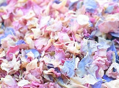 Slowfall Natural Real Dried Petal Biodegradable Wedding Confetti Vintage Mix