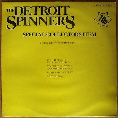 """DETROIT SPINNERS Special Collectors Item 12"""" Vinyl 45rpm 4 Classic Tracks"""