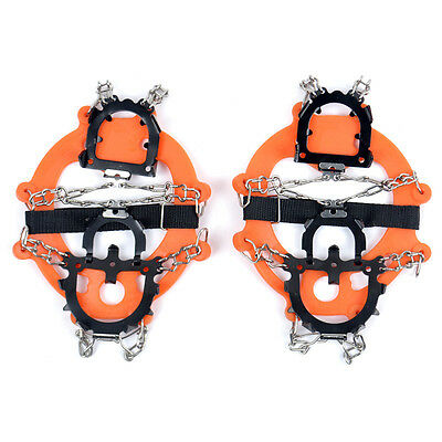 8/12-Teeth Ice/Snow Boot Shoe Covers Spike Cleats Crampons Gripper Climbing