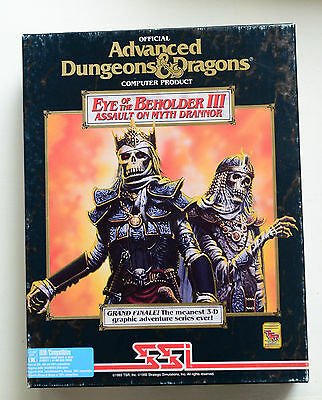 "Eye of the Beholder III Assault on Myth Drannor 3.5"" Big Box vintage 1993"