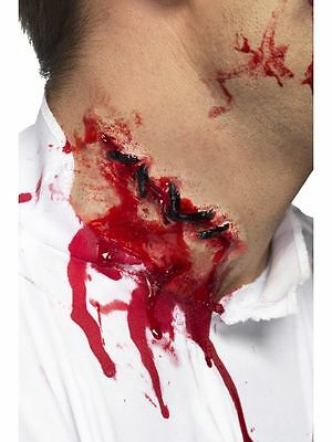 Latex Gory Stitches Zombie Wound Horror Halloween Scar