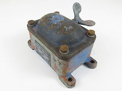 Vtg Square D Explosion Proof Switch Paddle Type industrial steampunk very old