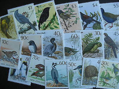 NEW ZEALAND 18 different MNH birds stamps face value up to $5NZ$ each!