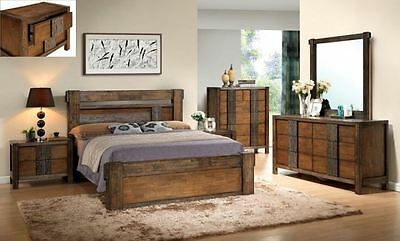 Owen King Size Bedroom Suite / Set With Low Foot Bed And  Slats System